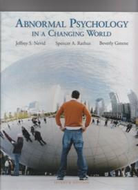 Abnormal Psychology In A ChangingWorld 7th Edition
